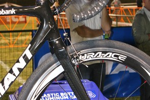 The front end of the bike uses a tapered 1 1/8