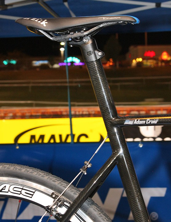 The integrated seatmast is slightly shallower front-to-back than that on the TCR Advanced SL for more ride comfort.