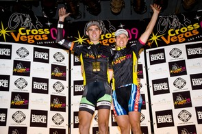 Jamey Driscoll and Katie Compton took top honours at CrossVegas September 23, 2009.