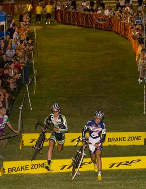 The racing was fast and the crowds were thick at CrossVegas.