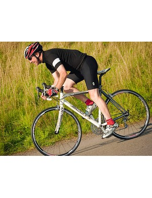 Once you're riding, the bike feels lighter than it really is