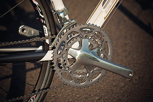 Our test model had an Ultegra triple chainset