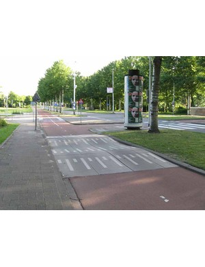 Speed control measures are a common sight in Holland