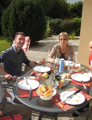 A nice lunch with Bobby, Martine and Nicolas to finish
