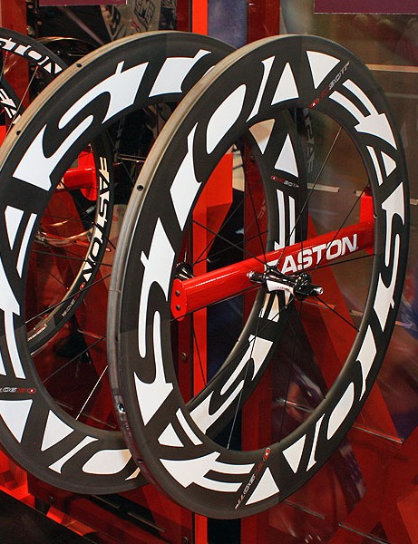 Easton claims its new EC90 TT carbon tubulars are actually faster than Zipp's 808 model in certain wind conditions.