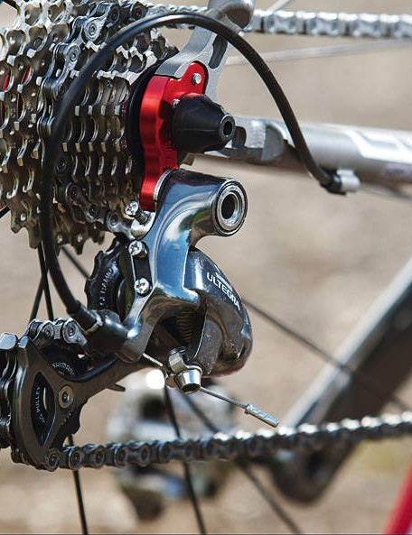 The complete 'off-the-peg' Cube  comes with a Shimano Ultegra  SL chainset