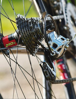 The Lynskey glides more and more smoothly, the further you click down  the rear block
