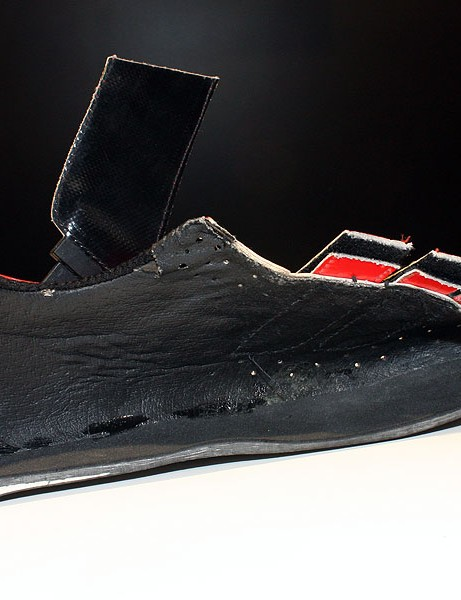 The carbon fibre outsoles are devoid of filler materials.