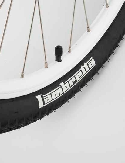 Lambretta's name on the WTB tyres