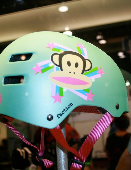 What cool kid wouldn't want Julius the Monkey on his helmet?