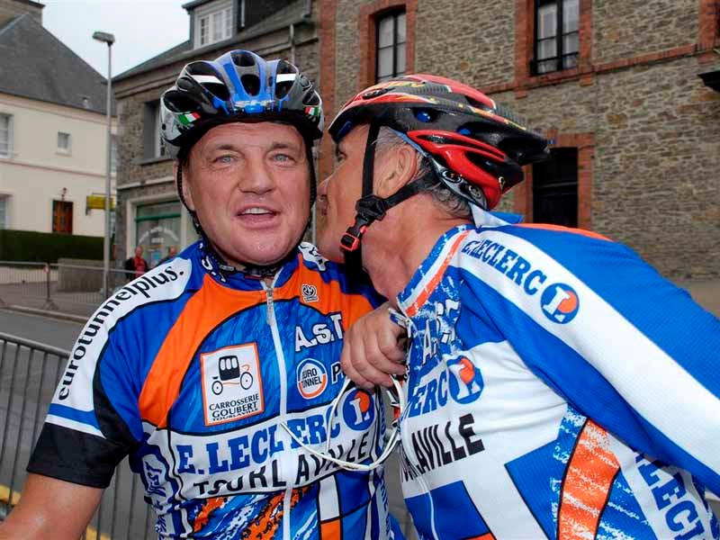 Tour de France stage winner Thierry Marie rode in the non-licenced category