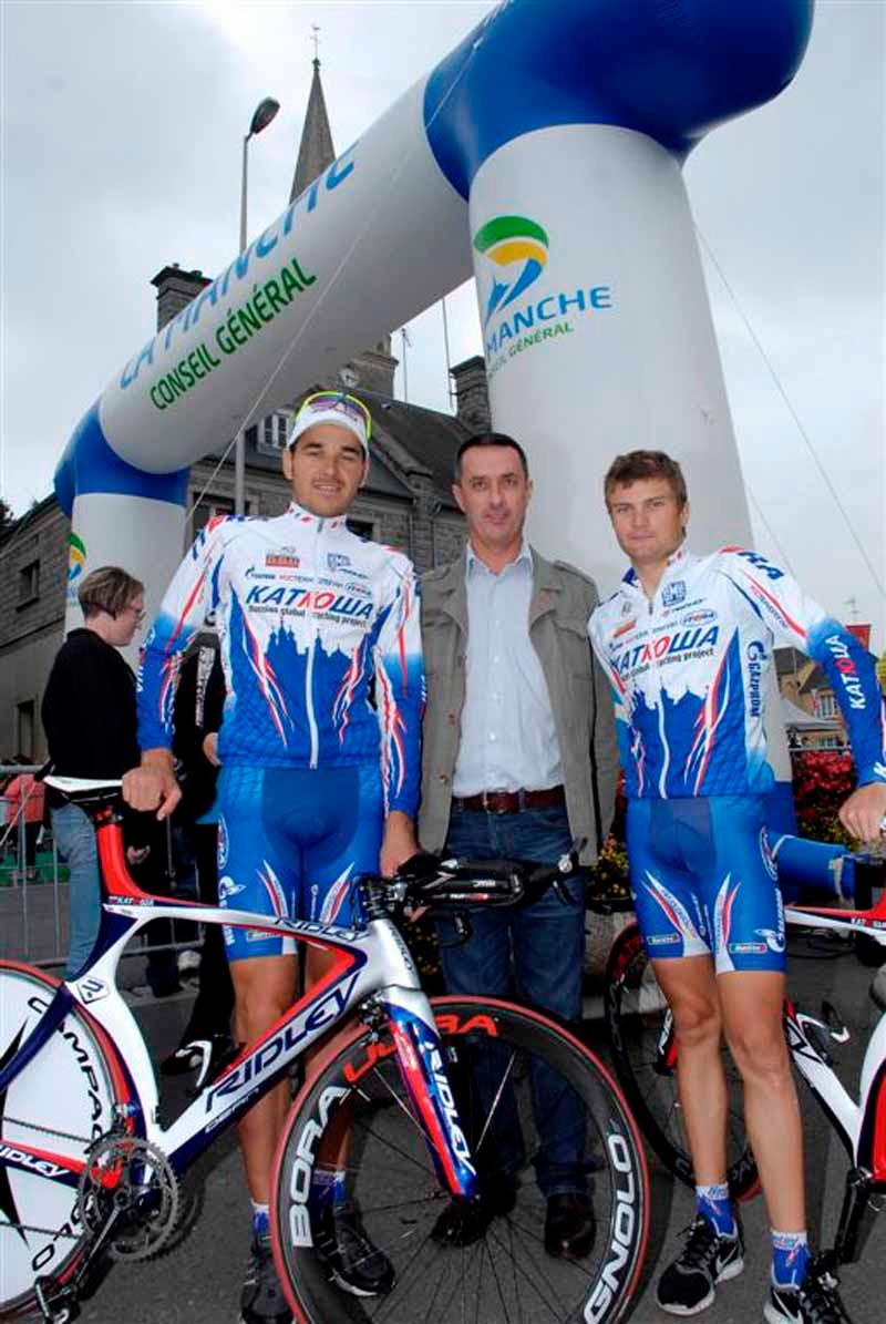 Former Duo Normand winner Laurent Bezault with the 2009 winners Nicolay Trusov and Artem Ovechkin
