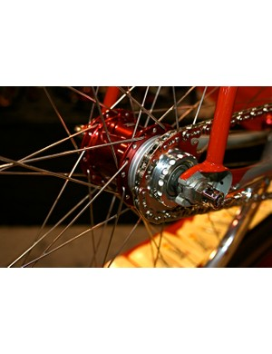 Spacers help adjust chainline.