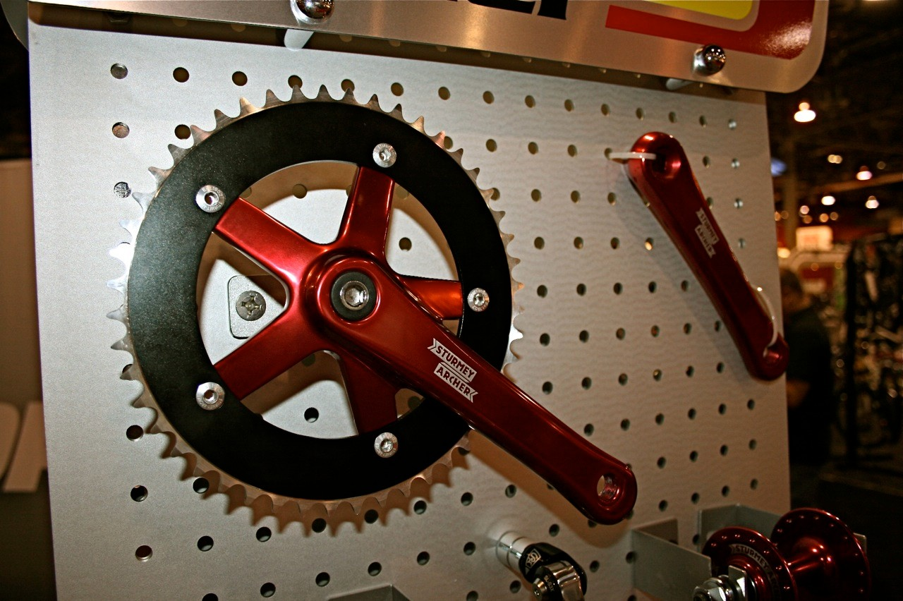 Sturmey-Archer will also offer its own crankset, a tapered style for traditional English threaded bottom bracket shells.