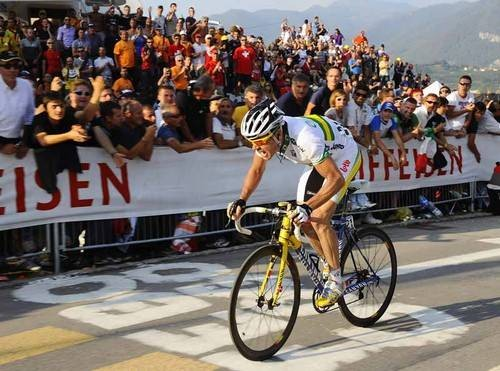Evans won Australia's first ever road race gold in Mendrisio