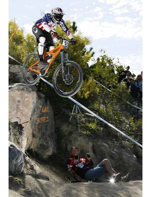 Lopes in action at the 2009 mountain bike and trials world championships