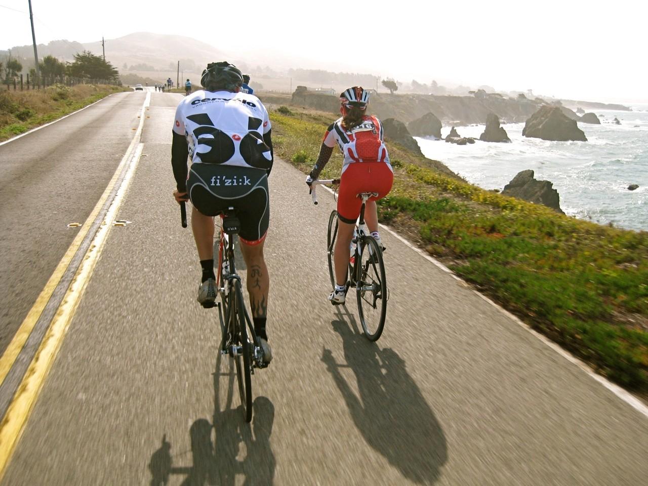 GranFondo riders enjoyed a tailwind down beautiful Highway 1.