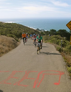 The ride wasn't without a challenge, though, as the 18-percent Coleman Valley Road shot straight up from the coast line.