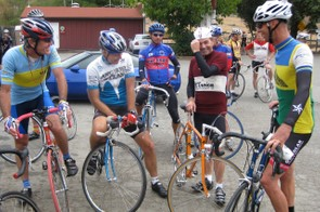 Plenty of steel bikes and wool jerseys were worn with pride September 13, 2009 outside Fairfax, California.