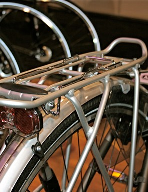 The Tasman rear rack can hold up to 40kg.