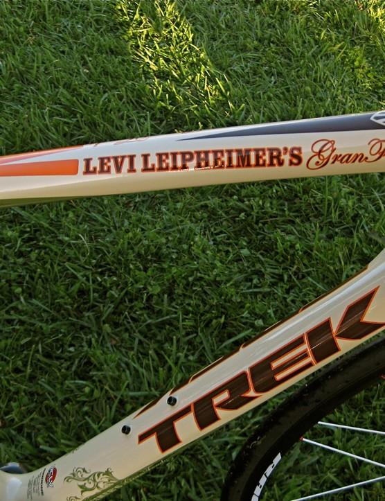 A custom one-off Levi GranFondo Trek Series 6 Madone was raffled off
