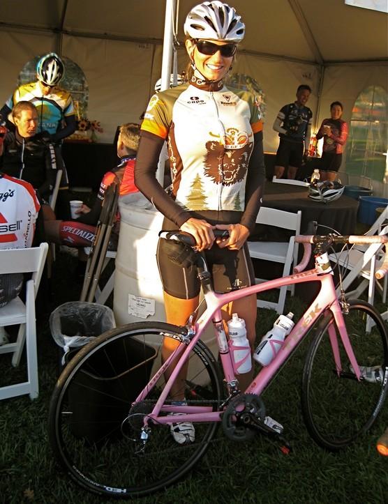Levi's wife, former pro racer Odessa Gunn, had her custom Trek Madone along for the ride