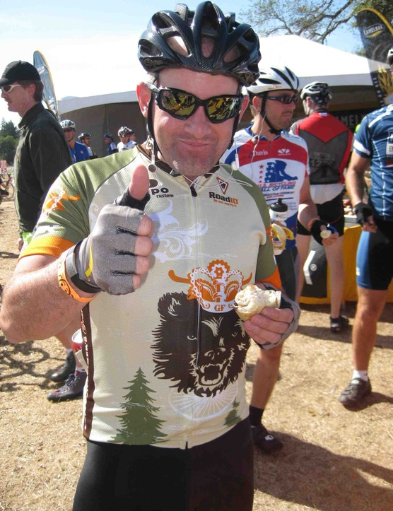 Levi's brother Rob - a Montana bike shop owner - enjoyed his ride around Sonoma County