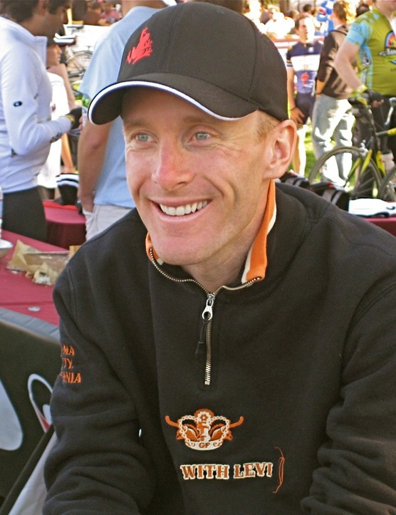 The smile sums up Leipheimer's feelings on the day at the post-ride press conference