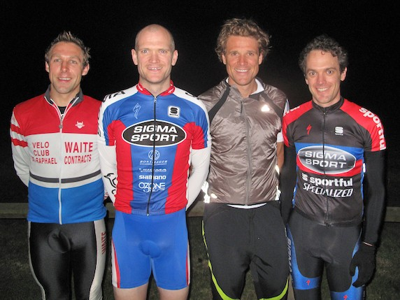 James Cracknell (second from left) will join Phill Sykes, Steve Golla and Jerone Walters in the HotChillee End To End Challenge