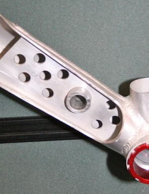 A lot of people don't know that this brace used in the downtubes of some of the Pace bikes stiffens the frame a treat