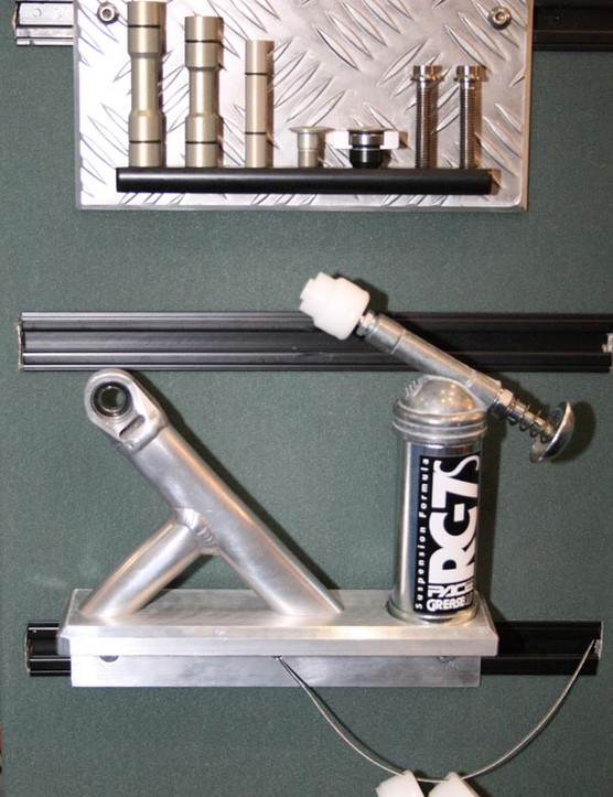 This is the grease gun and bearings that keep Pace bikes working well when maintained properly