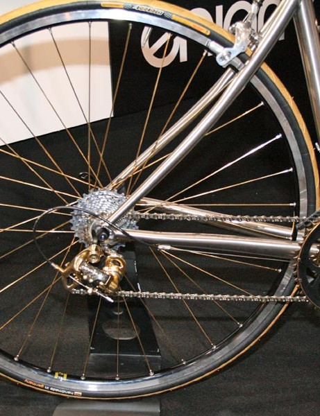 Gold spokes and rear mech