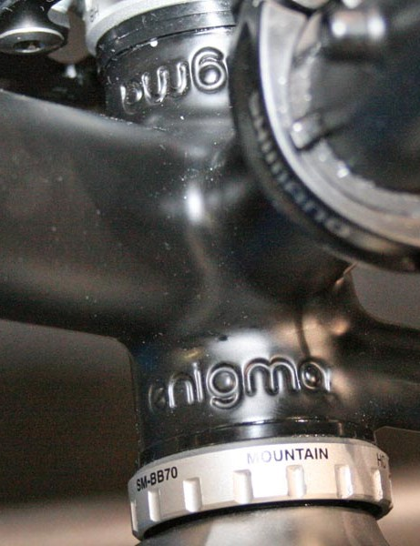 We like the Enigma name detail on the bottom bracket