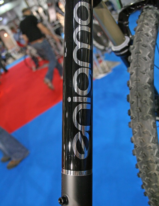 Enigma name on the hardtail's down tube