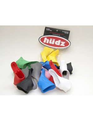 Hudz offers its replacement brake hoods in fourteen colors (not all of which are pictured here) and two rubber compounds.