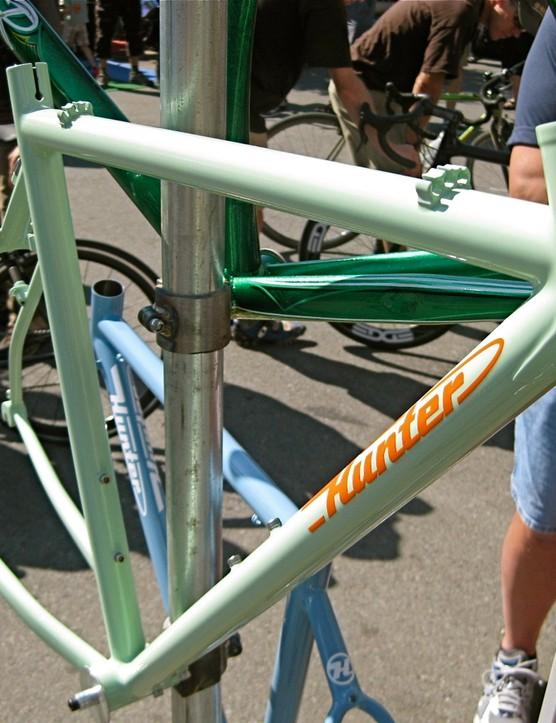Here's a nice fillet-brazed steel Hunter frame.
