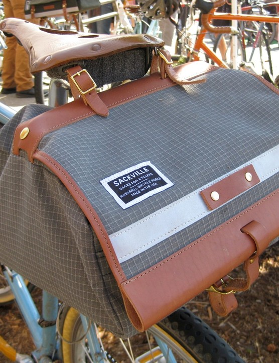 Rivendell Bicycle Works had a full crew; here's their Sackville saddle bag.