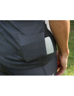 The single zipped pocket is almost unusably tiny - make sure to don your hydration pack