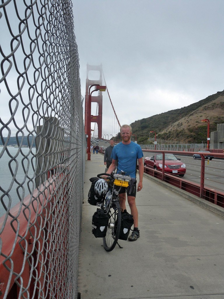 Crossing the Golden Gate Bridge, San Francisco, California