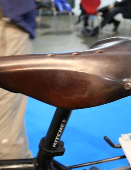 James relied on a Brooks saddle to carry him around the world