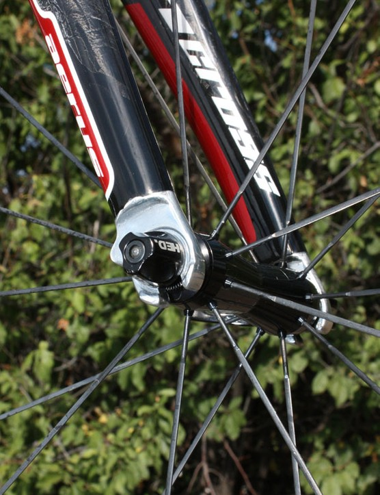 Alloy fork tips are marginally heavier than carbon ones but are likely to stand up better to long-term wear and tear