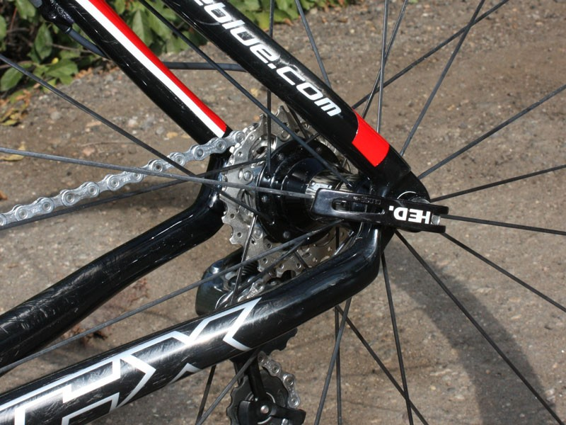 Dropouts on our tester were spaced at 133mm, not 130mm, slowing down wheel changes