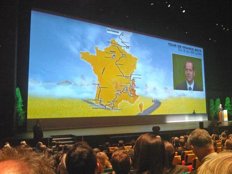 The 2010 Tour de France route is unveiled in Paris