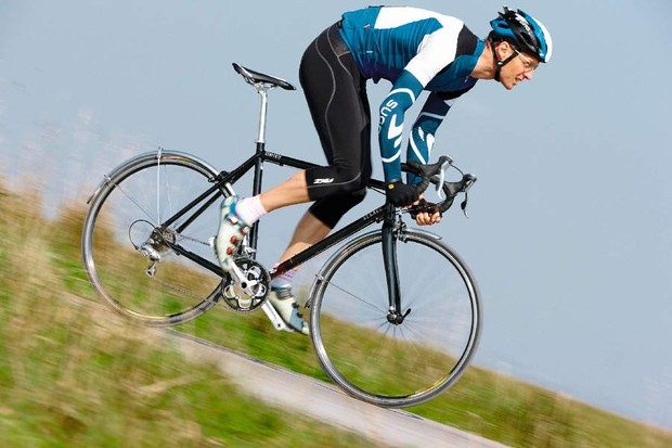 With sharp and sprightly handling, the convert is a hybrid between a track bike and a road racer