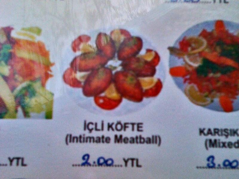 'Appetising' menu options
