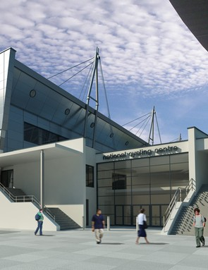 Artist's impression of the new National Indoor BMX Centre and British Cycling offices