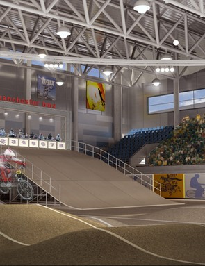 Artist's impression of the new National Indoor BMX Centre