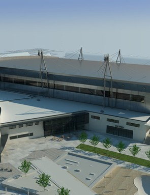 the newThe National Indoor BMX Centre and British Cycling offices are scheduled for completion in 2011