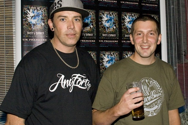 Rob Warner and Chris Smith were among the pros who turned out for the UK premiere of New World Disorder 10