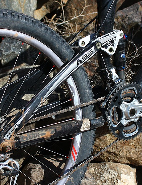Magelky's Top Fuel features Trek's latest suspension tricks, including the ABP dropouts, Full Floater dynamic shock mounts and one-piece Evo upper link